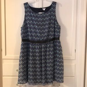Xhilaration Geometric pattern dress 4X 24/26